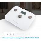 Beepower personenweegschaal | self powered | Geen batterij nodig | Met lichaamsanalyse functie | Wit