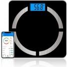 Bluetooth Personenweegschaal met Volledige Lichaamsanalyse_Slimme Weegschaal_Personen Weegschaal_Smart Scale_Type A_Zwart