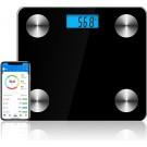 Bluetooth Personenweegschaal met Volledige Lichaamsanalyse_Slimme Weegschaal_Personen Weegschaal_Smart Scale_Type B_Zwart
